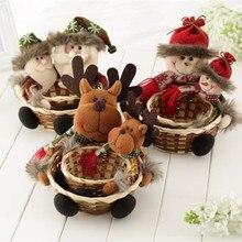 Новые рождественские конфеты Natale Ingrosso рождественские украшения корзина для хранения Рождественский Декор корзина для хранения Санта Клауса Подарок для дома