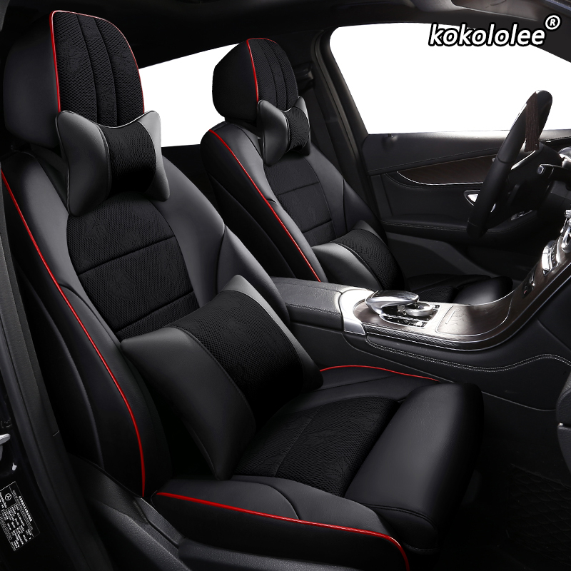 kokololee Cloth car seat cover for HYUNDAI Sonata Elantra Accent Tucson i30 ix35 ix25 LAFESTA ENCINO custom Automobiles Seats(China)