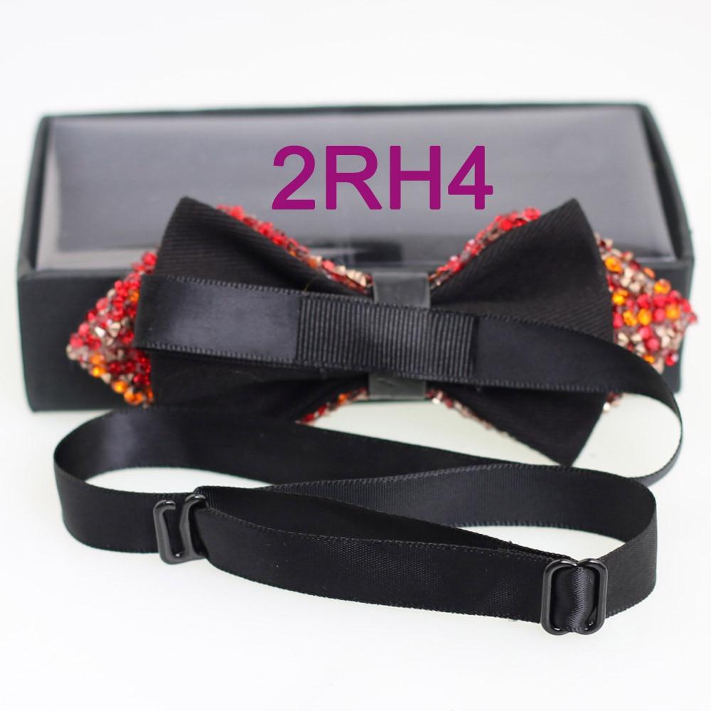 YIBEI Coachella Ties Orange Red Bowtie Unisex Diamond Bow Ties Tuxedo  Glitter Rhinestone Butterflies With Box Pajarita Pre Tied-in Men s Ties ... 0045646bfe3c