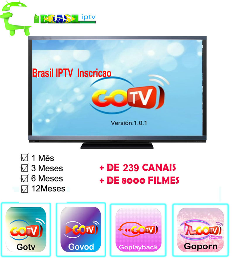 US $5 51 5% OFF|1/3/6/12Months GoTV Brazil IPTV apk Support any Android box  mobile tablet pc and android tv with VOD +LIVE +PLAYBACK +Porn-in Set-top