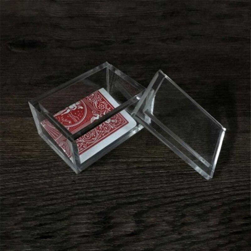 Paragon 3D (DVD And Gimmick) Magic Tricks Card To Clear Box Magia Magician Close Up Illusions Prop Mentalism Transparent Box