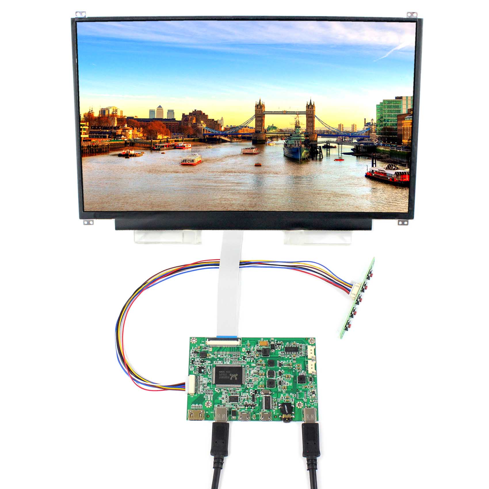 """13.3""""  IPS LCD Screen  13.3 inch 1920x1080 lcd N133HSE with HDMI Type C LCD Controller Board"""