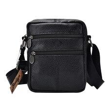 Мужская деловая сумка-мессенджер из натуральной коровьей кожи, Дизайнерские однотонные сумки через плечо на молнии, Мужская Большая вместительная черная сумка на плечо для мужчин