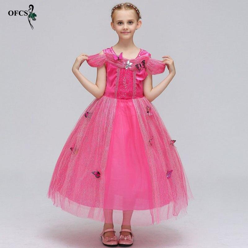 OFCS Girls Cinderella Dress Up Costume Butterflies Kids