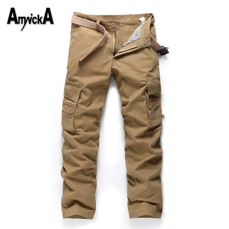 ФОТО AmynickA Military Style Men Pants Militar Tactical Cargo Pants Outdoor Pants Army Training Sport Pants Men Hiking Hunting