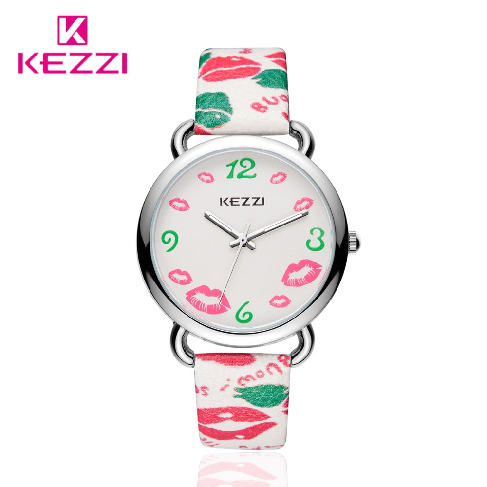 KEZZI women fashion brand watches quartz casual leather strap wristwathes for women lady dress watches female
