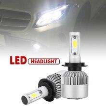 2pcs H7 S2 72W 8000LM 6000K White Light Auto Car LED Headlight Hi or Lo Beam Head Lamp for Cars Vehicles