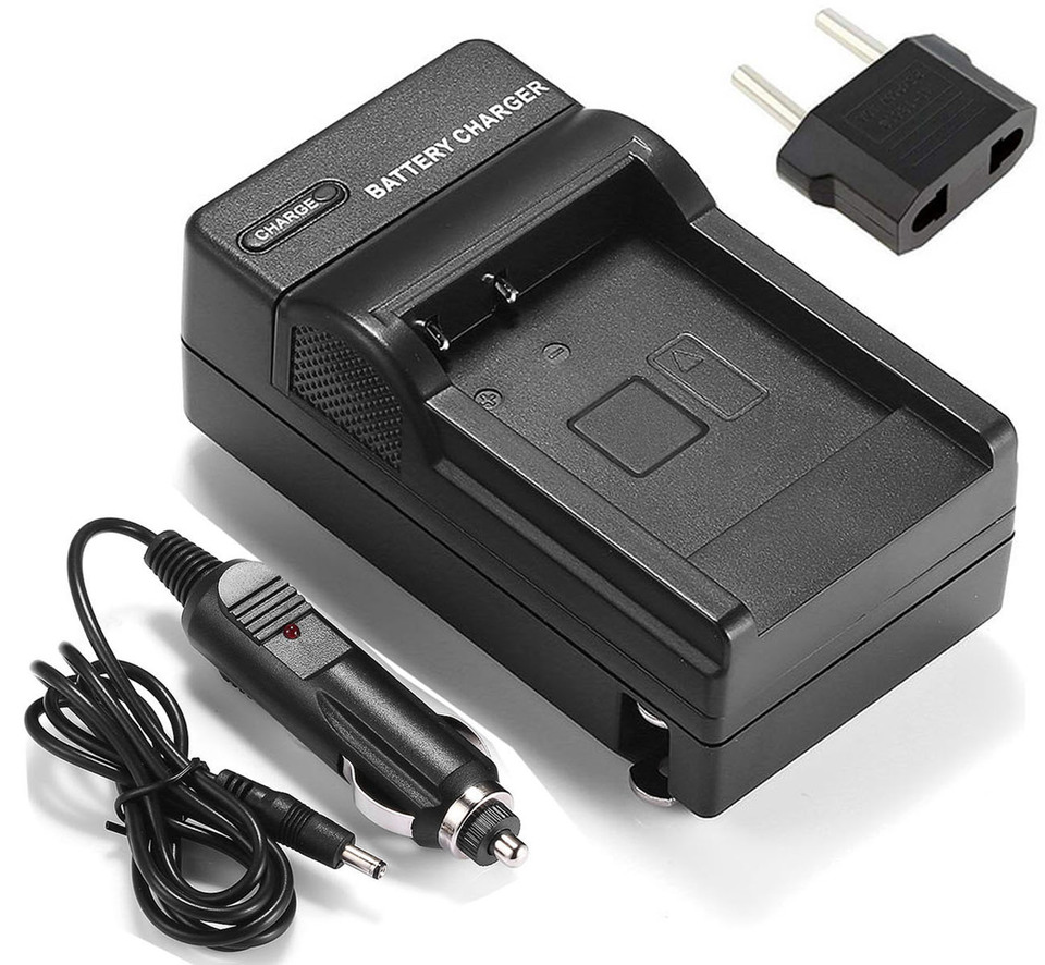 2-Pack Battery VP-D375Wi Digital Camcorder VP-D375W and USB Charger for Samsung VP-D372WH VP-D372WHi
