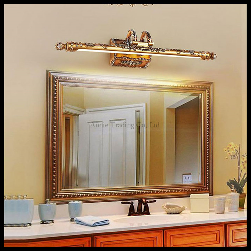 popular european bathroom lighting buy cheap european bathroom 110v 220v 9w 68cm european resin led mirror lights retro bathroom kitchen cabinet waterproof anti