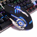 Super 6 Button 3200 DPI 4 LED Backlit Mechanical Gaming Mouse Mice USB Wired Professional Game Mouse Mice for Pro Gamer