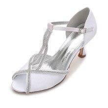 Creativesugar femme satin robe chaussures cristal de diamant autour à bout  ouvert T sangle pompes de c8a97472e237