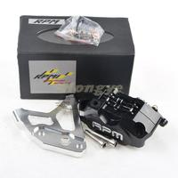 RPMMOTOR New Universal CNC Electric Motorcycle Scooter Four Piston Brake Calipers + 200mm/220mm Disc Brake Pump Adapter Bracket