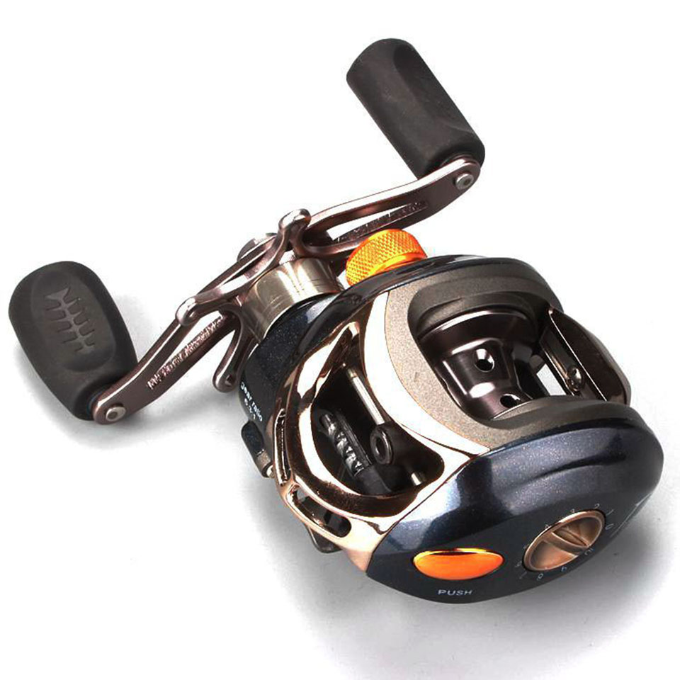 12+1BB Ball Bearing 6.3:1 Gear Ratio Fishing Reel Brake System Water Drop Wheel Bait Casting Reels FL015
