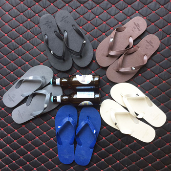 Fashion Men Slippers Summer Beach Flip Flops for Male Fashion Solid Flat Outdoor Shoes Antiskid Outdoors Slippers Shoes 1