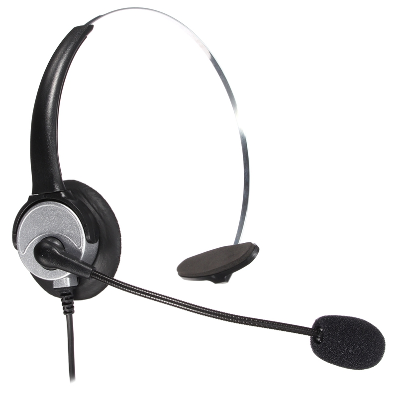 New Bests RJ11 Office Call Centre Headphones Telephone Noise Cancelling Headphone With Microphone Connector Headset Best Price