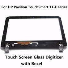 Para hp pavilion touchsmart 11 serie 11-e010au 11-e030ea 11-e030sa 11-e110nr 11-e019au digitalizador pantalla táctil sensor de vidrio + bisel