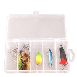Image 2 - Smart Vissen Set 1.98M Casting Hengel Combo Baitcasting Reel 100M Nylon Lijn Lokken Vissen Box Lepel Aas vissen Haak Pin