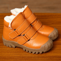 Kalupao snow boots girls boy children winter boots kids for boys girls with fur winter shoes kids leather boots girls anti slip