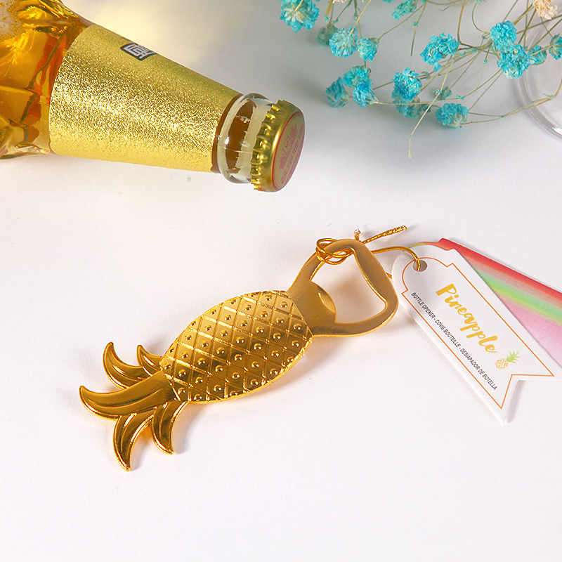 Golden Pineapple Elephant Bottle opener Wedding favors and gifts for bridesmaid guests groomsmen personalized eventail mariage6