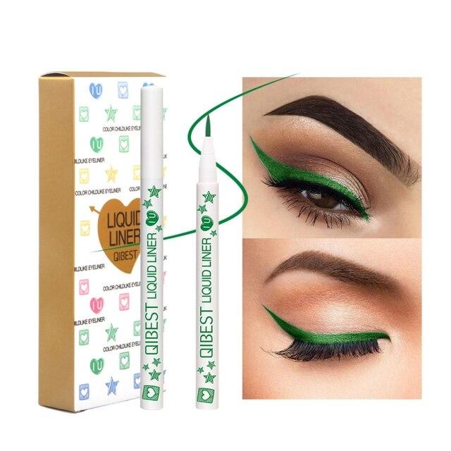 Delineador de ojos de secado rápido líquido delineador de ojos de larga duración 12 colores impermeables maquillaje de ojos