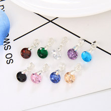 Simple Fashion Jewelry Silver Color Round Shape CZ Cubic Zirconia Pendant Necklace for Women Wedding Jewelry(China)