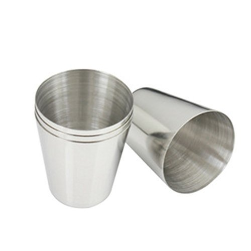 GSFY!1 oz 35ml Stainless Steel Wine Drinking Shot Glasses Barware Cup