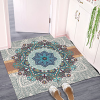 European style Entrance hall carpet PVC wire loop mat Impression mandala Door mat Living room floor mat bathroom non slip rug