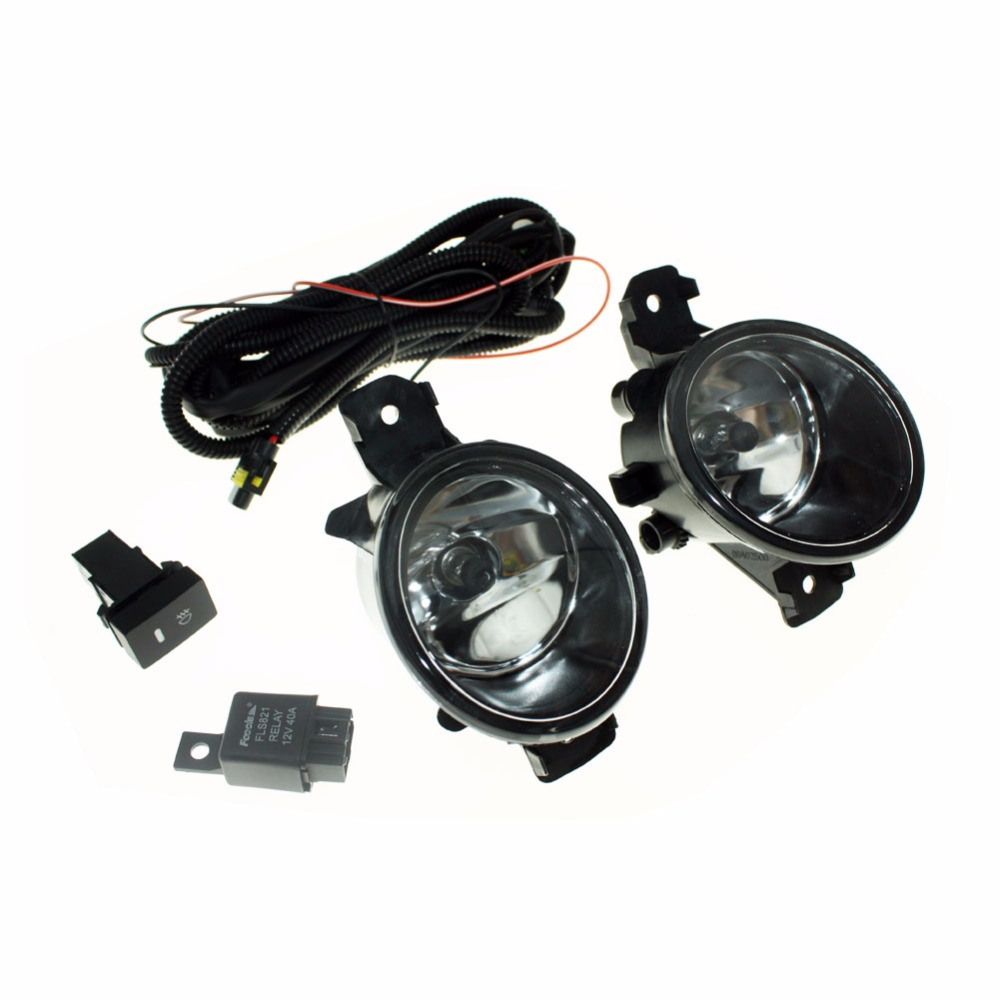 For NISSAN ALMERA 2/II H11 Wiring Harness Sockets Wire Connector Switch + 2 Fog Lights DRL Front Bumper Halogen Lamp set wiring harness sockets wire switch for h11 fog light lamp for ford focus 2008 2014 acura tsx rdx for nissan cube for suzuki