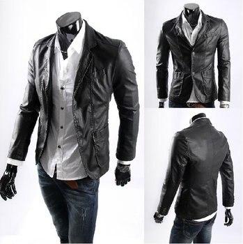 Пальто из ПУ кожи