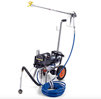 Professional airless electric piston paint sprayer with spray gun heavy load painting equipment with extend pole