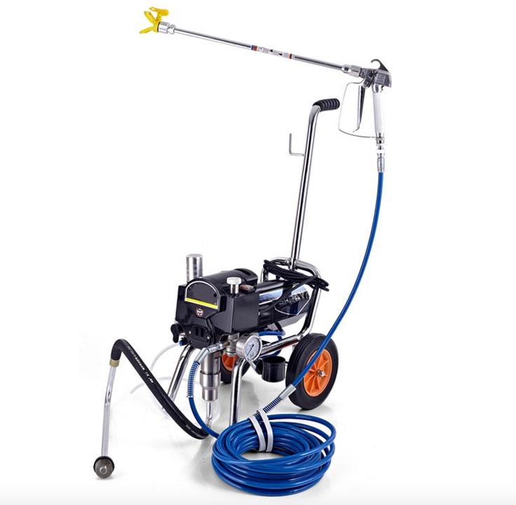 Profesionalus beoris elektrinis stūmoklinis dažų purkštuvas su purškimo pistoletu sunkiųjų dažų įranga su prailgintu poliu