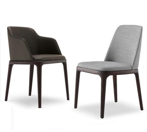 yingyi nuevo diseo moderno de cuero de la pu silla de comedor con armas o sin