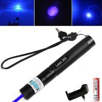 Зеленая/красная Синяя лазерная указка 532nm 5 mW 303 лазерная ручка Регулируемая Звездная головка сжигание матч лазер с 18650 батареей + зарядное ус...