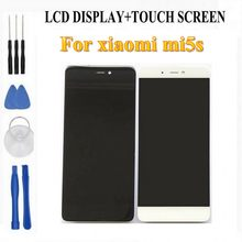 LCD Display+Digitizer Touch Screen Assembly For Xiaomi mi5s mi 5s Cellphone 5.15 inch replace display free tools as gift(China)