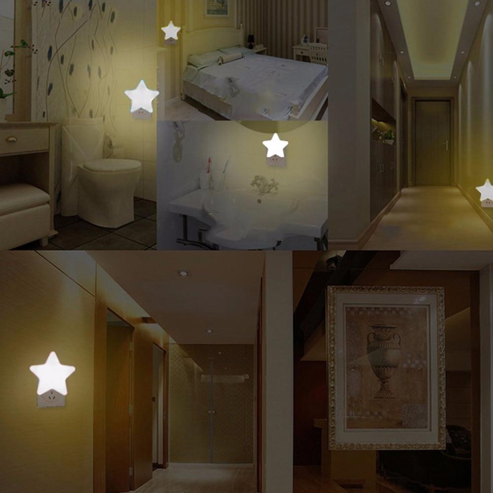 Auto-control Switch Anti-fall Lighting Light Star Shape Led Wall Light Energy Saving Home Decoration Sensor Night Light Us Plug Security & Protection