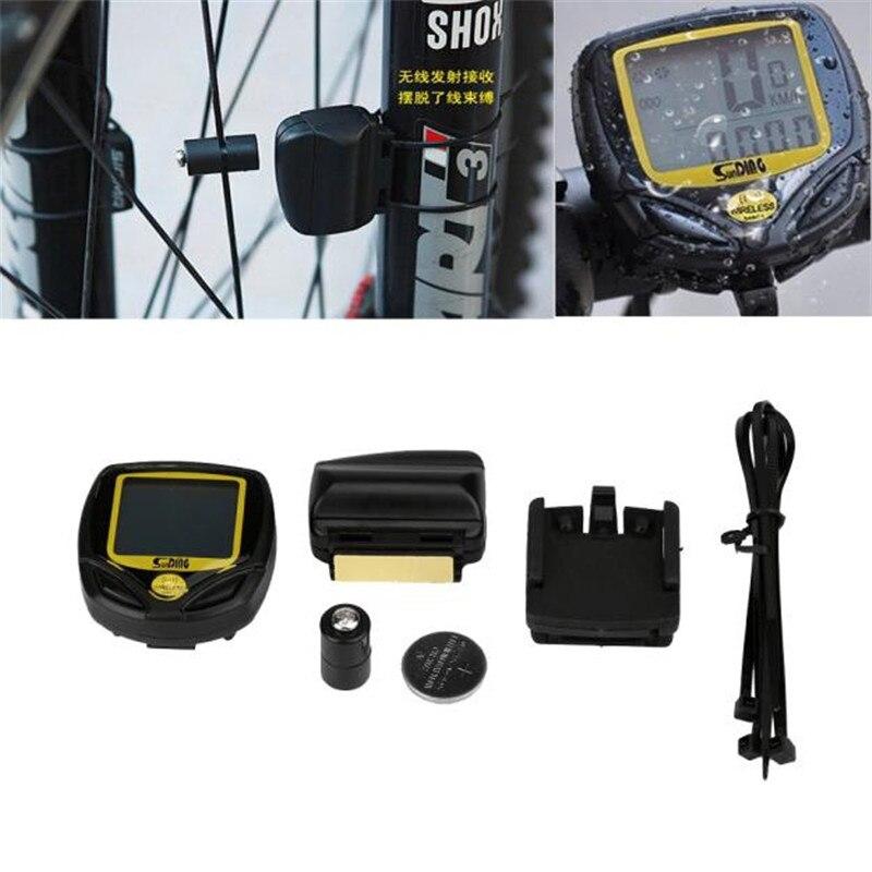 купить  1PC Wireless LCD Bike Computer Speed Odometer Speedometer Cycle Bicycle Waterproof #2 M17  недорого