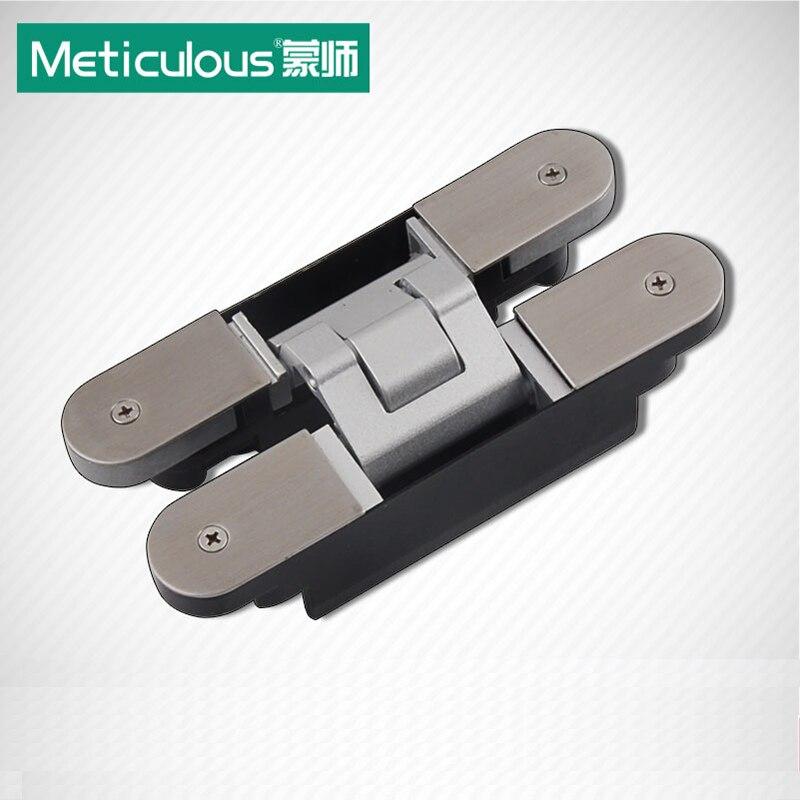 Meticulous Three-Dimensional Adjustable Concealed Hinges Cross co-page Dark Heavy Sliding Door Hinge 3-Way Hidden Hinge 2pcs