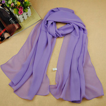 Hot Online Sales New Retail Wholesale Summer Plain Chiffon Polyester Scarves