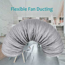 1.2 2.5 5M Silencer Fan Ducting Low Noise Flexible Ventilation Ducting Aluminum Air Duct Hose for Extractor Fan Air Conditioner