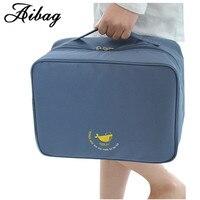AIBAG Nylon Travel Bag Packing Cube System Durable Large Capacity Handbag Luggage Unisex Clothing Sorting Organize