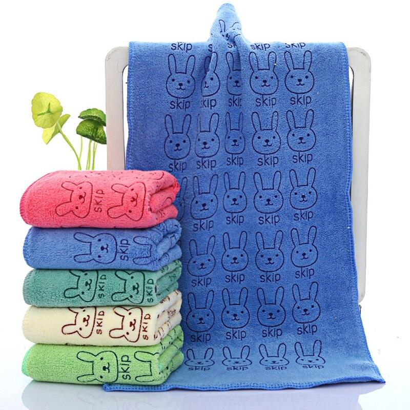 25*50 cm mignon bébé enfant serviette visage microfibre absorbant séchage bain serviette de plage gant de toilette maillots de bain bébé serviette coton enfants serviette