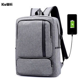 Image 1 - Multifunctional USB charging 15 Inch Backpack Waterproof Laptop Nylon Casual Business Leisure Travel Computer Bag anti thief