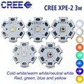 Светодиодный диодный излучатель Cree XPE2, 10 шт., 1-3 Вт, светодиодный светильник, теплый белый, красный, зеленый, синий, желтый, высокий светильник...