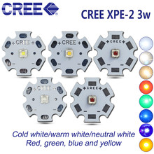 Pcs Cree XPE2 10 XP-E2 R4 1-3 w Neutro LEVOU Diodo Emissor de luz Branca quente branco vermelho verde azul amarelo destaque 20/16/12mm