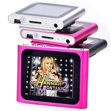 "Sexta Generación Mp3 Mp4 Music Video Media Player FM Games Movie 1.8 ""Pantalla LCD Soporte de Tarjeta TF Clip Deportivo Reproductor Digital MP4"