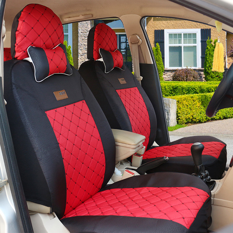 High Quality Car seat cover for Cadillac all models ATS CT XT SRX black/red/beige/gray/purple car accessories auto sticker car rear trunk security shield cargo cover for volkswagen vw tiguan 2016 2017 2018 high qualit black beige auto accessories