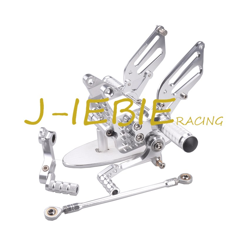 CNC Racing Rearset Adjustable Rear Sets Foot pegs Fit For Ducati 749 999 R/S R S 2003 2004 2005 2006 SILVER cnc brake clutch levers fit for ducati 1098 s tricolor 2007 2008 07 08 999 s r 2003 2004 2005 2006 03 04 05 06