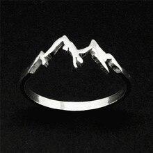 BOAKO 2018 Fashion Creative Mountain Range Ring Nature Motivation Jewelry Hiking Snowboard Lover Gift bijoux femme X7-M2