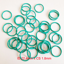 ID22.4mm*CS1.8mm VITON FKM rubber seal gasket o-ring o ring gasket 2piece size 550mm 542mm 4mm viton o ring seal dichtung green gasket of motorcycle part consumer product o ring