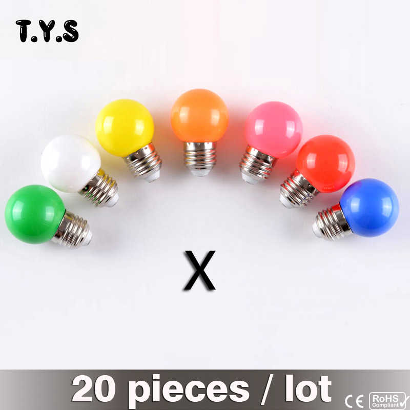 20pcs Colorful Globe Light Led Light Bulb E27 3W LED Energy Saving Lamp Holiday Light SMD 2835 LED Bombillas Home Decor Lighting